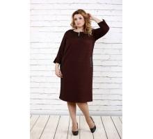 Терракотовое стройнящее платье ККК1637-0718-3