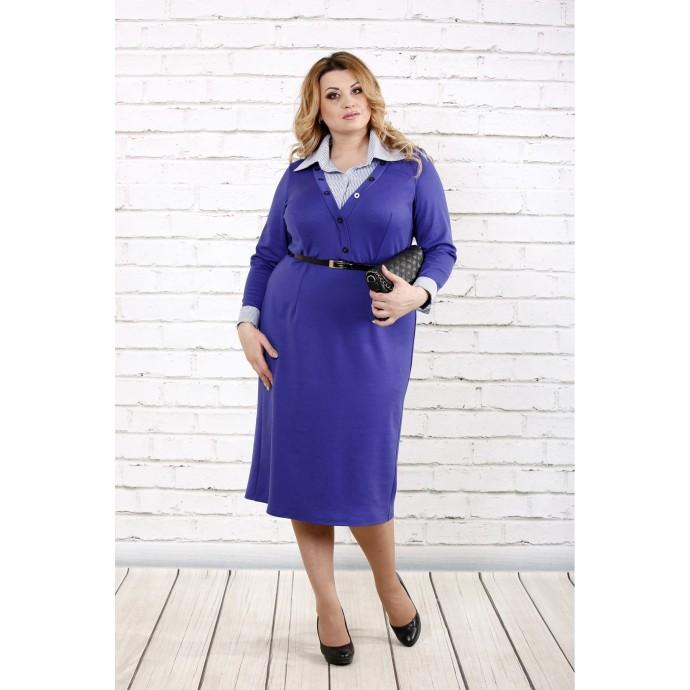 Фиолетовое трикотажное платье ККК1629-0722-1