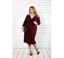 Бордовое платье из трикотажа ККК1630-0722-2