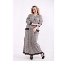 Светлое платье в пол с бордовым оттенком ККК9993-01427-1