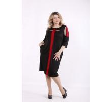 Черное с алым платье ККК99930-01418-1