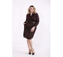 Коричневое платье ККК99931-01417-3
