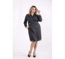 Темно-серое платье ККК99932-01417-2
