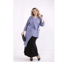 Голубая асимметричная блузка ККК99934-01416-3