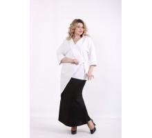 Белая длинная блузка ККК99936-01416-1