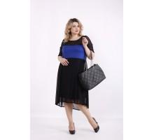 Синее платье с сеткой ККК99938-01415-2