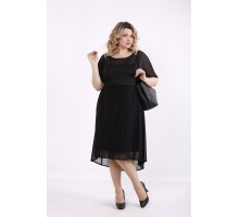 Черное платье с сеткой ККК99939-01415-1