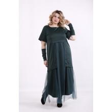 Зеленое платье в пол ККК9995-01426-2