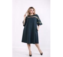 Темно-зеленое платье ККК99946-01412-3