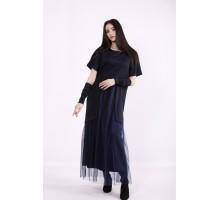 Темно-синее платье в пол ККК9996-01426-1