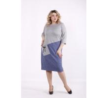 Серо-джинсовое платье ККК99956-01409-2