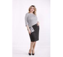 Серо-черное платье ККК99957-01409-1