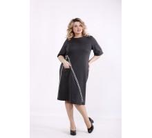Темно-серое платье ККК99958-01408-3