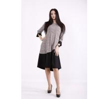 Светлое с черным платье ККК9999-01425-1