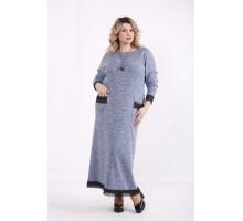 Голубое платье в пол ККК9992-01427-2