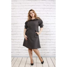 Льняное платье расклешенное к низу ККК194-0773-1