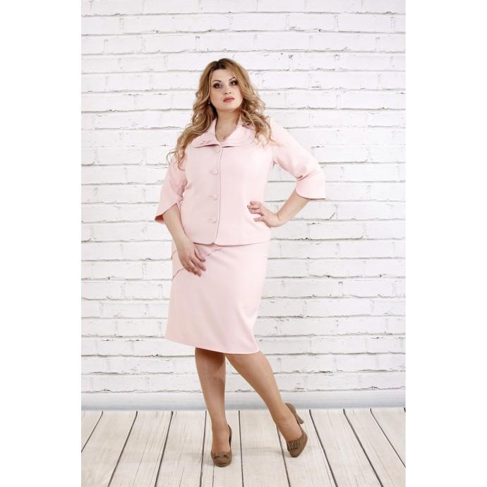 Пудровое платье с жакетом ККК1925-0766-2