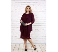 Платье и накидка баклажан ККК1927-0765-2
