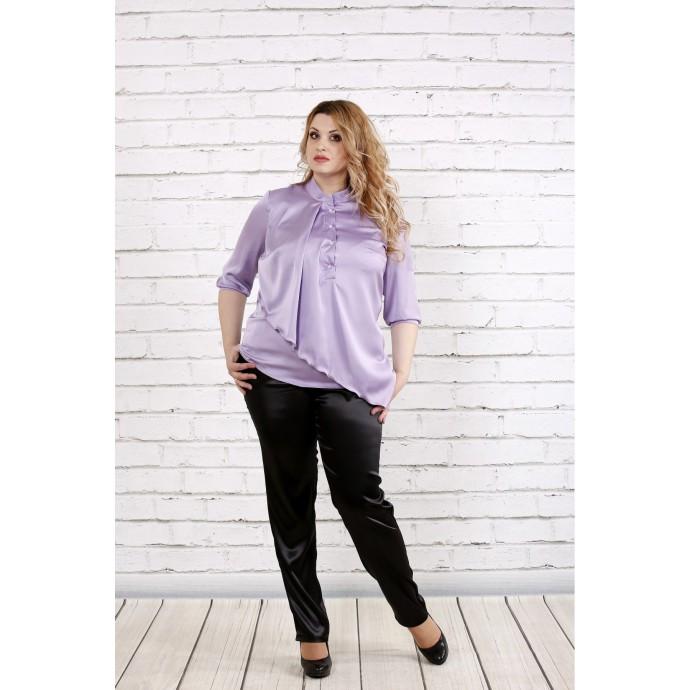 Сиреневя шелковая блузка ККК1931-0764-1