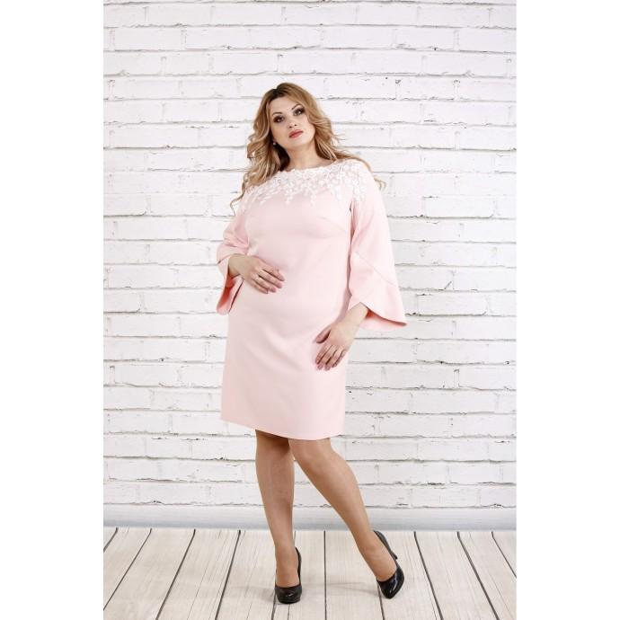 Пудровое платье ККК1938-0760-3
