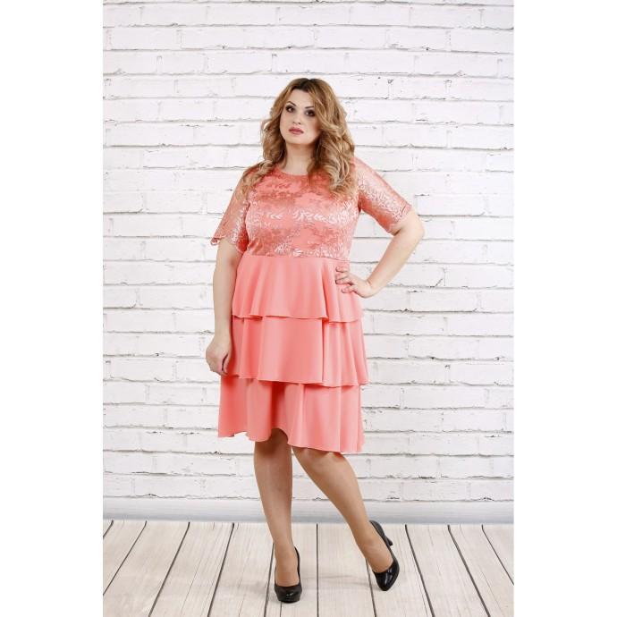 Розовое нежное платье с пышной юбкой ККК1958-0754-1