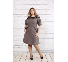 Платье цвета мокко ККК192-0773-3