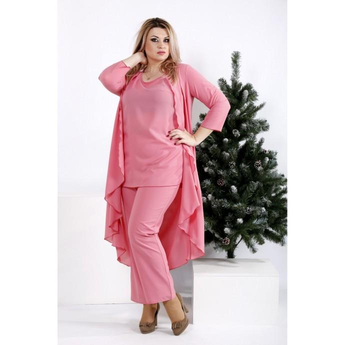 Стильный и удобный костюм цвета фрезия ККК2044-0957-2