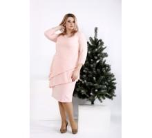 Платье нежного пудрового цвета ККК2047-0956-2