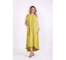 Салатовое платье без рукавов КККV02-01518-2