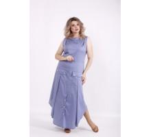 Длинное синее платье КККV012-01521-3