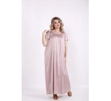 Однотонное длинное платье фрезия КККV013-01522-1