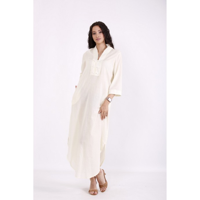 Легкое лимонное платье из батиста КККV027-01527-1