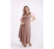 Длинное платье мокко КККV010-01521-1
