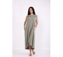 Платье без рукавов хаки КККV01-01518-1