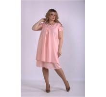 Розовое летнее платье ККК33322-01158-3