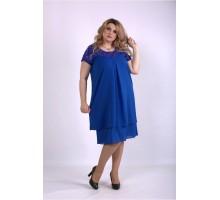 Шифоновое платье электрик ККК33324-01158-1