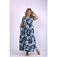 Длинное платье с цветами ККК33325-01157-3