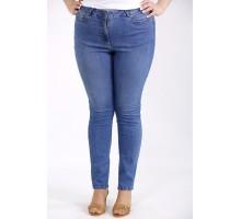 Синие простые джинсы по щиколотку ККК3335-j-050