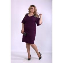 Баклажанное сексуальное платье ККК33345-01150-3
