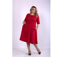 Алое пышное платье ККК33353-01148-1