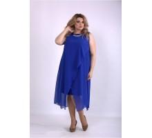 Платье электрик с шифоном ККК33356-01147-1
