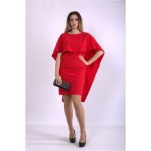 Алое оригинальное платье ККК33365-01144-1
