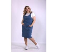 Синий джинсовый сарафан ККК3339-01128-1