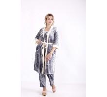 Велюровый серый халат КККN3-01671-3