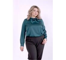 Темно-зеленая блузка ККК88818-01402-1