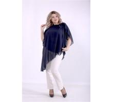 Синяя блузка ККК88819-01401-3