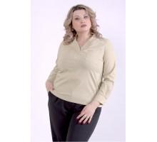 Горчичная блузка ККК88825-01399-3