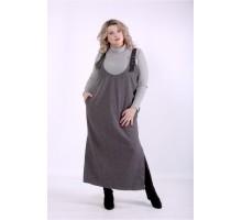 Комплект: серый сарафан и серый гольф ККК88829-01398-2