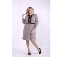 Платье меланж бордо ККК88832-01397-2