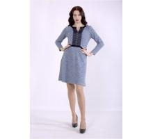 Голубое платье меланж ККК88833-01397-1